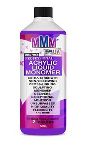 NAIL SCULPTING ACRYLIC LIQUID MONOMER SALON HIGH QUALITY UK Fast  Delivery 50ML