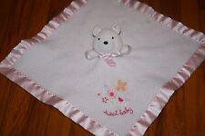 CARTER'S BABY - BEAR - PINK/ SQUEAK Security blanket -  SWEET BABY -