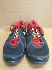 E218 para hombre NIKE LUNARECLIPSE 2 Negro Rojo Textil Con Cordones Correr Zapatillas UK 8