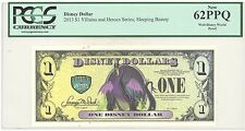 "2013 PROOF $1 Disney Dollar Sleeping Beauty PCGS 62 PPQ ""Very Rare"" no serial #"