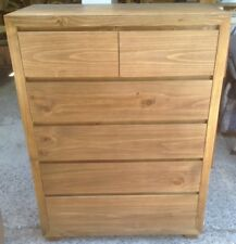 Tallboy, Retro,6 Drawers, Pine, Stained