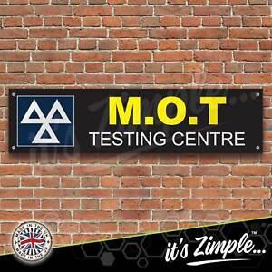 MOT Testing Centre Black Banner Garage Workshop Sign PVC Trackside Display