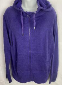 Zella Full Zip Hoodie Running Jacket Sweatshirt Womens Sz XL Purple