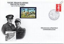 La segunda guerra mundial 1941 Vichy Francia busca tregua en Siria Sello Cubierta (París/Danbury Mint)
