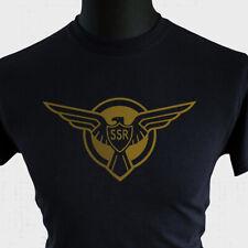 Captain America SSR Logo T Shirt Super Hero Marvel Dc Comic Book New Cool Noir