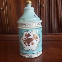 Antique Covered Porcelain Dresser Jar