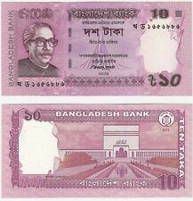 Bangladesh 10 Taka 2013 P-45c NEUF NEU UNC Uncirculated Banknote