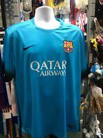 Nike Fc Barcelona Blue Black 3rd soccer jersey 2015-16 Size XL Men's Only