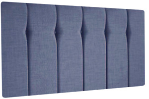 Luxury Queen Style Chenille Headboard With Diamante & Buttons, All Sizes & Color