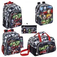 Marvel Avengers Backpack Rucksack Travel School Gym Sports Bag Pencil Case Boys