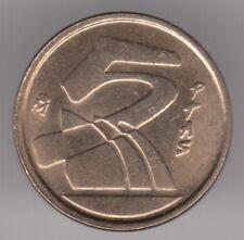 ESPAGNE 5 pesetas 1990 aluminium-bronze coin-stylisé voiliers