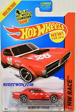 HOT WHEELS 2014 HW RACE - TRACK ACES '68 MERCURY COUGAR TAMPO ERROR