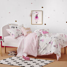 TUTU CUTE PINK SINGLE bed QUILT DOONA DUVET COVER SET NEW ADAIRS