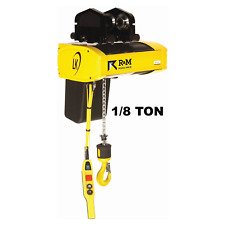 R&M Lk Electric Chain Hoist - 1/8 Ton, 20 Ft Lift, 16 Fpm With Push Trolley