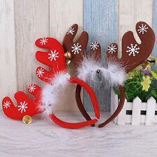 Cute Christmas Headband Reindeer Antlers Feather Snowflake Bell Hairband Present