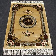 Orient Teppich China 93 x 61 cm Seidenteppich Seide Vogel Silk Carpet Rug Tapijt
