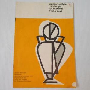 Young Boys v Hamburg SV European Cup Football Programme. 2/11/1960 HSV Programm