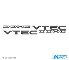 DOHC Vtec Stickers Set Of 2 Top Quality Decals Honda Civic Prelude CRX 16 Inch