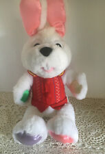 Peter Cottontail Stuffed Plush Singing Talking Battery Operated Easter Bunny