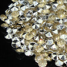1000 4.5mm Wedding Decoration Crystals Diamond Table Confetti Champagne&Silver