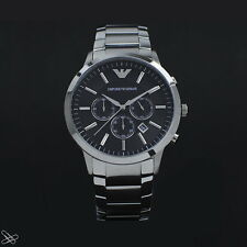 Emporio Armani AR2460 Men's Watch Colour: Silver/Black Chronograph
