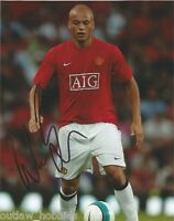 Manchester United Wes Brown Autographed Signed 8x10 Photo COA B