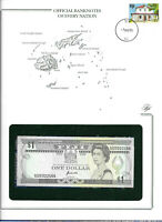 Banknotes of Every Nation Fiji 1993 1 Dollar UNC P89 Prefix D/2