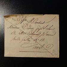 FRANCE MARQUE POSTALE LETTRE P2P VERVINS 1826 32x1 FAIRE PART PLIÉ EN ENVELOPPE