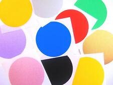 Large 65mm Round Circular Coloured Sticky Labels, Dot Stickers Mixed Colours