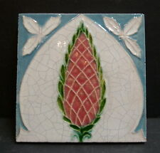 Antique English Medmenham Thistle Tile England