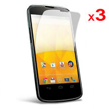 3 Pack of CLEAR LCD Screen Protector Guards for LG Google Nexus 4 / E960