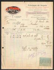 """TOURCOING (59) USINE de KAPOK / LAINE à MATELAS """"Ferdinand BOUCHART"""" en 1924"""