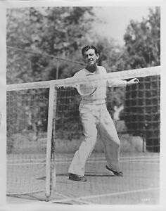 ROBERT TAYLOR Playing Tennis original MGM b/w publicity still photo
