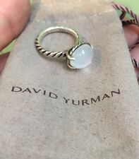 DAVID YURMAN 12x10mm 925 Oval Stack Ring White Moon Quartz Size 5.5