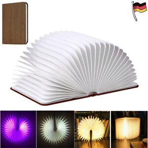 Bunt LED Buch Licht Faltbare Buchlampe USB Nachtlicht Beleuchtung für Kinder