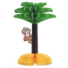Luau Palm Tree with Monkey Centerpiece 13 Inch