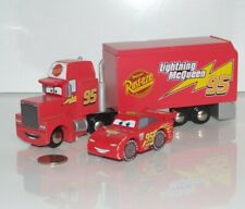 Disney Pixar Cars Wood Collection Mack Hauler & Lightning - Thomas Train Wooden