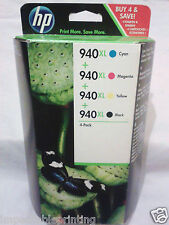 GENUINE HP 940XL Black Cyan Magenta Yellow Ink Cartridges 8000 8500 8500A Series