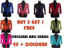 New Bali Shrug Bolero Cardigan Wrap up Fine knit / Mesh  UK size (8-18) 45+color