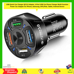 Quick Charge 3.0 Car Charger 40W 3A Car Adapter with Dual QC USB Ports 4 Port