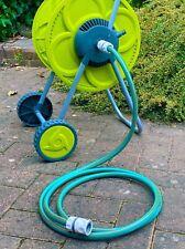More details for 50m capacity floor standing hose reel/ cart, garden hose extensions/ connectors