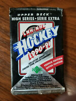 1990-91 upper deck hockey high series French edition 12 card pack