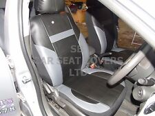 i - TO FIT A TOYOTA CELICA CAR, SEAT COVERS, LEATHERETTE, BLACK / grey 59.99