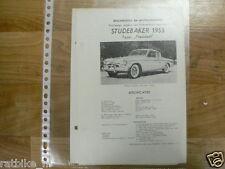 ST05-STUDEBAKER TYPE PRESIDENT 1955 -TECHNICAL INFO COUPE VINTAGE CAR