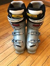 Womens Solomon Energyzers Downhill Ski Boots~ Size 26.5~ White & Purple