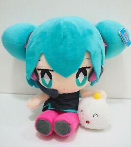 "Hatsune Miku x Shumai Kun Vocaloid Taito Prize Plush 11"" TAG Toy Doll Japan"