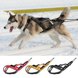 Dog Weight Pulling Harness X Back Reflective Sledding Training Vest Soft Padded