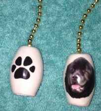 """One Newfoundland Dog Fan Pull With Paw Prints On The Back 1"""""""