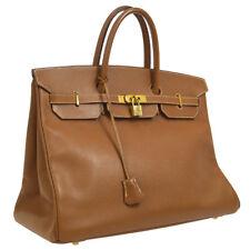 07ea7ca5d516 Authentic HERMES BIRKIN 40 Hand Bag Brown Veau Greine Couchevel Vintage  NR12271