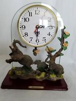 Vintage Elephant Desk Mantle Clock Battery Operated New with Box